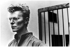 David Bowie by Helmut Newton 1982  hey this is DAVID BOWIE, hero of my teenage years :)