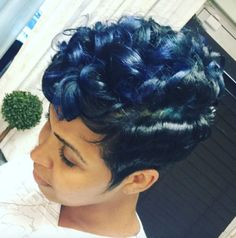 This blue tho! via @glowbalessence - http://community.blackhairinformation.com/hairstyle-gallery/short-haircuts/blue-tho-via-glowbalessence/