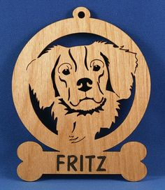 Laser cut personalized dog ornament - Over 40 Styles Available