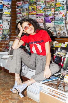 Man Repeller T-shirts, now for sale with Monogram! Good Morning Beautiful People, Luanna Perez, Leandra Medine, Man Repeller, N21, Fashion Images, Cool Tees, Foto E Video, Everyday Fashion