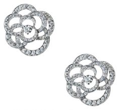Chanel Camelia In 18k White Gold And Diamonds Jewelry $9,855