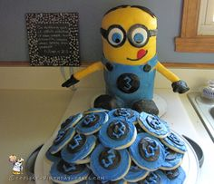 3rd Birthday Minion Cake and Cookies... Coolest Birthday Cake Ideas