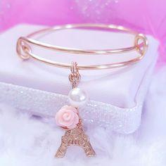 Paris Charm Bangle Bracelets