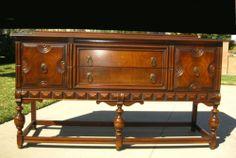 Gorgeous Vintage Spanish Revival Ornate Buffet Sideboard Credenza | eBay