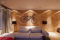 Laminált padló a falon - modern, látványos faldekoráció ötletek, tippek, képek