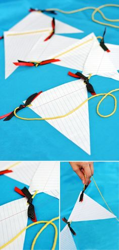 Super Easy Notebook Paper Banner #backtoschool #garland
