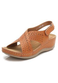 Slide Wedge Sandal_3 Brown Wedge Sandals, Flat Sandals, Women's Shoes Sandals, Wedge Shoes, Ladies Sandals, Women Sandals, Womens Shoes Wedges, Comfortable Shoes, Birkenstock