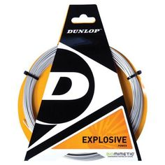 DUNLOP Explosive Power Biomimetic 17G Tennis String-- by Dunlop. $9.95. The Dunlop Explosive 17G poly Tennis String is a high power string that is generated from the high tensile premium polyester. Heat treated outer coating for enhanced durability.Length: 40ft. (12.2m)Gauge: 17 (1.25mm)