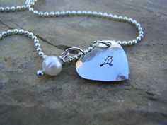 Hand Stamped Heart Locket by KottageKreations on Etsy, $24.00