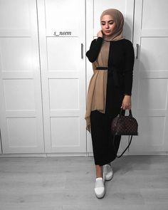 new Ideas for fashion outfits summer modest – Hijab Club Modest Fashion Hijab, Modern Hijab Fashion, Street Hijab Fashion, Casual Hijab Outfit, Hijab Fashion Inspiration, Islamic Fashion, Hijab Chic, Muslim Fashion, Mode Inspiration