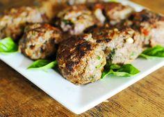 Sun-dried tomato basil meatballs #paleo #primal #meatballs