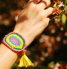 Small Hippie Spring friendship bracelet by MeandMamaCreations