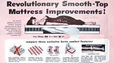 Vintage Advertisement Retro Bedroom by ACMEVintageLimited  #serta #mattress #vintage #ads