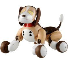 Omnibot Zoomer dog robot with AC adapter Takara tomy electronic toy in English #Takaratomy