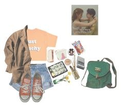 """""""Still a kid and it's alright // rtd - please"""" by castle-of-ghosts ❤ liked on Polyvore featuring Just Peachy, OneTeaspoon, Converse and Panasonic"""