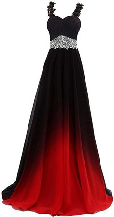 online shopping for Beilite Beaded Top Gradient Color Evening Gowns Chiffon Bridesmaid Dress Black&Red E 10 from top store. See new offer for Beilite Beaded Top Gradient Color Evening Gowns Chiffon Bridesmaid Dress Black&Red E 10 Ombre Prom Dresses, Pretty Prom Dresses, Cheap Prom Dresses, Ball Dresses, Dance Dresses, Elegant Dresses, Homecoming Dresses, Cute Dresses, Beautiful Dresses