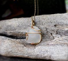 Sea Glass Necklace  Sea Glass Jewelry from by MermaidTearsDesigns