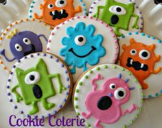 little monsters baby shower cookies - Google Search