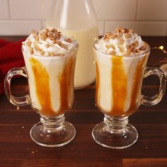 We found the things eggnog has been missing...spiced rum and salted caramel.