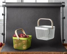 DIY: paint handles of IKEA storage baskets