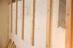 Faux Shiplap Over Cinder Block Concrete Furring