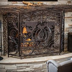 Mariella Black Gold Finish Floral Iron Fireplace Screen Great Deal Furniture http://www.amazon.com/dp/B00PGCHY8S/ref=cm_sw_r_pi_dp_t.Wcxb13E58GF
