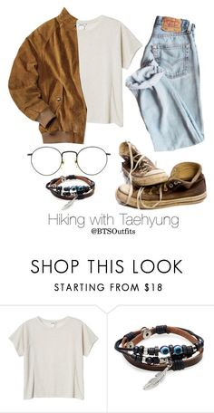 """Hiking with Taehyung"" by btsoutfits ❤ liked on Polyvore featuring Monki, Converse and Degs & Sal"