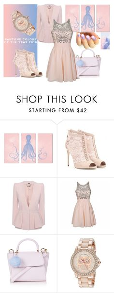 """""""Rose quartz <3"""" by azraa-tursunovic ❤ liked on Polyvore featuring Dolce&Gabbana, Alexander McQueen, Ally Fashion, Topshop, Betsey Johnson, women's clothing, women's fashion, women, female and woman"""