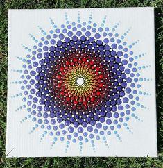 Original Mandala Dot Art Painting on Canvas 10x10 by Artisharian