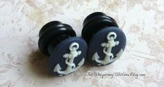 Anchor Cameo Plugs for Gauged Ears Sizes by TheWhisperingWillows, $24.99