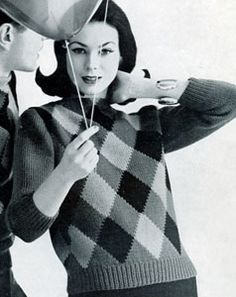 Lady's Argyle Pullover | Free Knitting Patterns