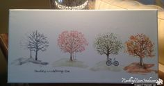 Seasons change ~ Sheltering Tree. I think this would look great as a long narrow sampler.  CJ