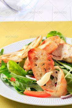 Realistic Graphic DOWNLOAD (.ai, .psd) :: http://vector-graphic.de/pinterest-itmid-1006795951i.html ... Healthy salad ...  Ciabatta, appetizer, arugula, bread, brunch, chicken, closeup, crispy, food, fresh, healthy, leaves, lunch, meal, nobody, nutritious, pepper, pieces, plate, salad, salad greens, slices, snack, spinach  ... Realistic Photo Graphic Print Obejct Business Web Elements Illustration Design Templates ... DOWNLOAD :: http://vector-graphic.de/pinterest-itmid-1006795951i.html