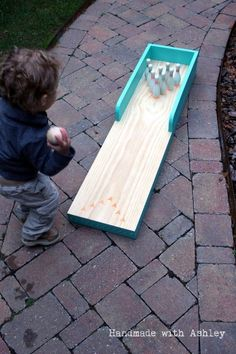 Ana white build a toy pirate ship free and easy diy project and scrap wood project build a mini bowling lane can be used indoors or out solutioingenieria Image collections