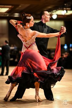 Challenge Line in Gold International Standard Tango. This is me competing in pro-am at USDC 2015. Love my new gown by Boutique Staykova!
