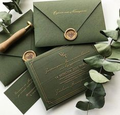 Wedding Invitation Cards, Wedding Cards, Green Wedding Invitations, Groomsmen Invitation, Reception Invitations, Wedding Goals, Our Wedding, Celtic Wedding, Cake Wedding