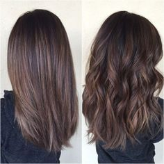 do not like the stripy look when straight balayage hair 5