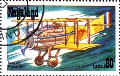 Stamp: Spad VII France 1917 (Cinderellas) (Nagaland) Col:ND 1978-01/8