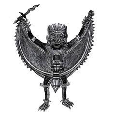 Piquete-Zina the Aztec Batman by Bysthedragon