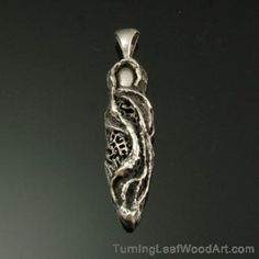 Fine Silver Pendant-Freeform Series-Goddess Necklace: $425