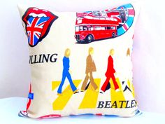 London throw pillow sham  18x18 12x20 pillow cover  The by SABDECO