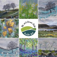 Lynn Comley, UpandDownDale - a textile felt artist based in the Peak District National Park. My website displays some example of my textile and mixed media artwork. Mixed Media Artwork, Mixed Media Artists, West Coast Scotland, Free Motion Embroidery, Embroidery Stitches, Lone Tree, Wet Felting, Needle Felting, Winter Trees