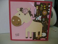 Horsey Birthday Card Cricut Create a Critter