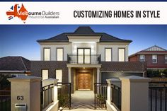Are you planning to customize your home? Customize it in style with experienced professionals at Melbourne House, Home Builders, Custom Homes, Mansions, House Styles, Home Decor, Decoration Home, Manor Houses, Room Decor