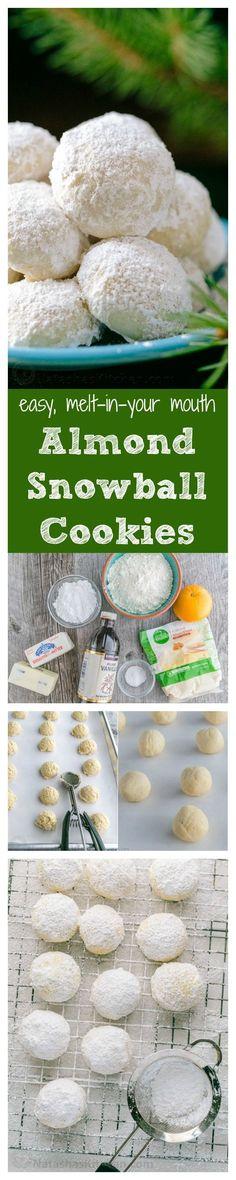 Almond Snowball Cookies Recipe (VIDEO) - NatashasKitchen.com