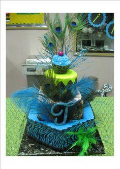 14th Birthday Peacock Cake