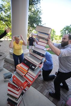 Library Olympics - a slightly different version of tasks we do everyday! Read for the Win! Teen Programs, Library Programs, University Of Dayton, Dayton Ohio, Library Lessons, Library Ideas, 2018 Winter Olympics, Book Organization, Library Of Congress