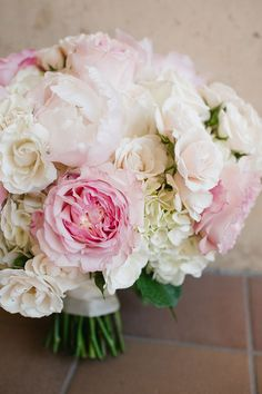 Summer bouquet of pale pink & white: Bloomin' Buckets Pale Pink, Pink White, Pink Grey Wedding, Mon Cheri Bridal, Wedding Bouquets, Wedding Dresses, Fit And Flare Wedding Dress, Bride Flowers, Gray Weddings