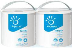 Laveta Papernet Special Extra, rola industriala alba, celuloza, 1 strat, 266 m, tehnologie DRYTECH.  Mod de ambalare: 2 role
