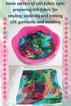 Here are some secrets of silk fabric care: preparing silk fabric for sewing; washing and ironing silk garments and bedding. It is best to always pre-treat your silk fabric using the manner in which you intend to care for the garment. Easy Sewing Patterns, Easy Sewing Projects, Sewing Hacks, Sewing Tutorials, Sewing Crafts, Sewing Tips, Sewing For Beginners Diy, Sewing For Dummies, Sewing Basics